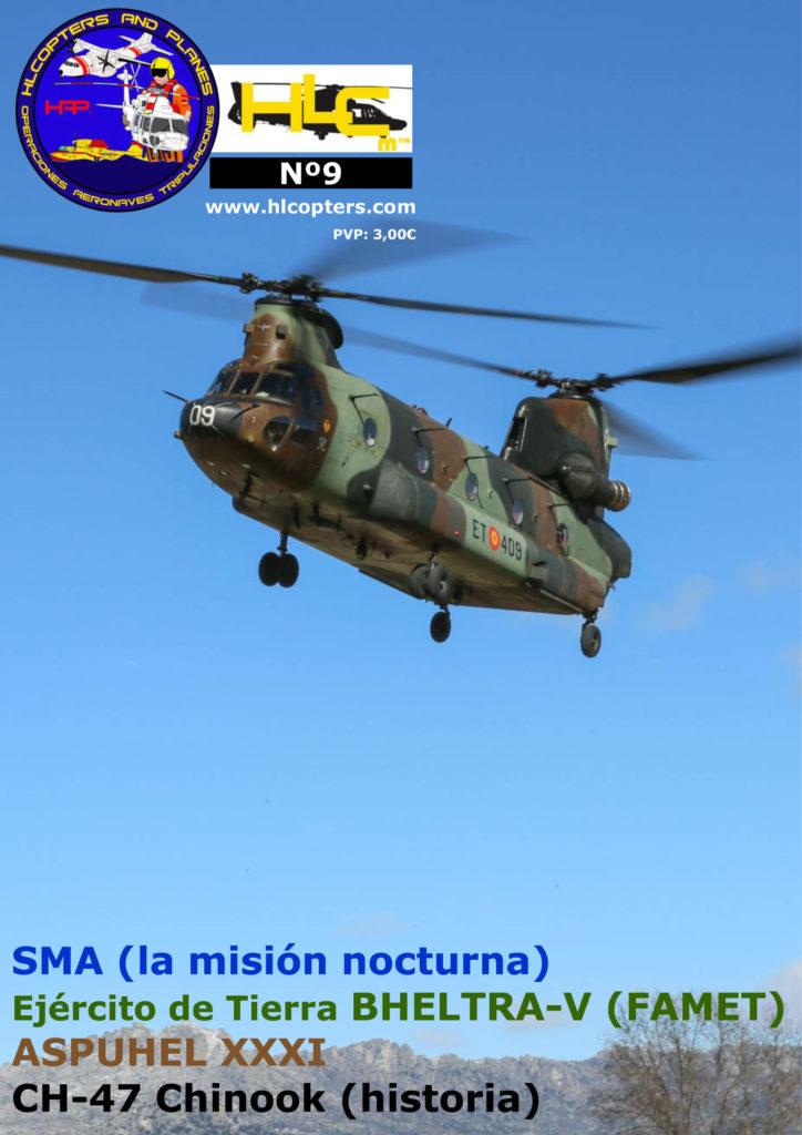 Hlcopters número 9, revista especializada en helicópteros