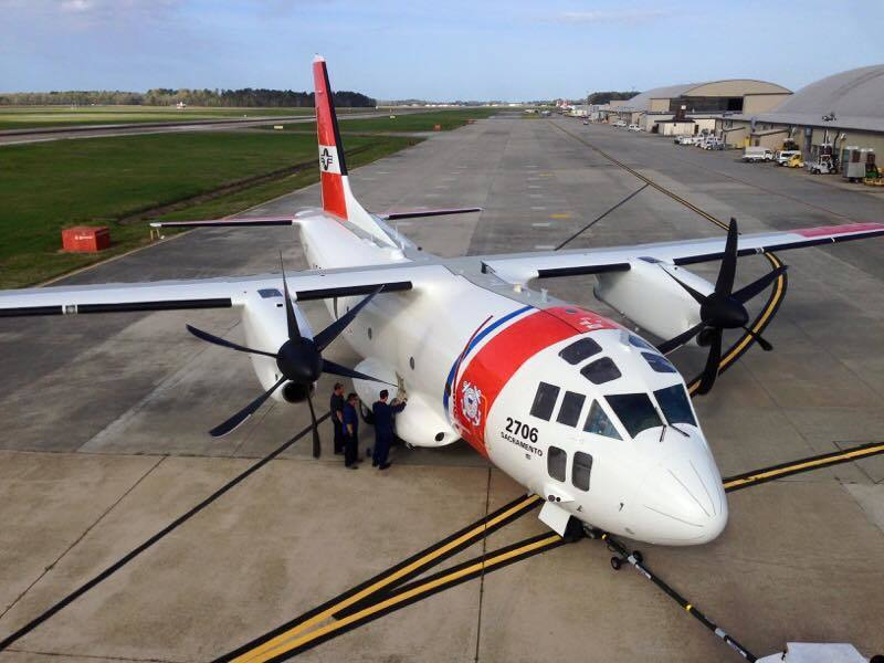 C-27 Spartan, Coast Guard C-27 Spartan, US Coast Guard Air Station Sacramento aircraft, Coast Guard rescues 2 from downed plane in Half Moon Bay, USCG rescue plane crew