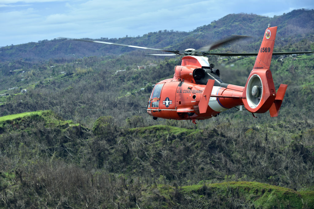 MH-65 Dolphin Helicopter from Air Station Borinquen, AS366 Dolphin Helicopter, USCG Dolphin Helicopter