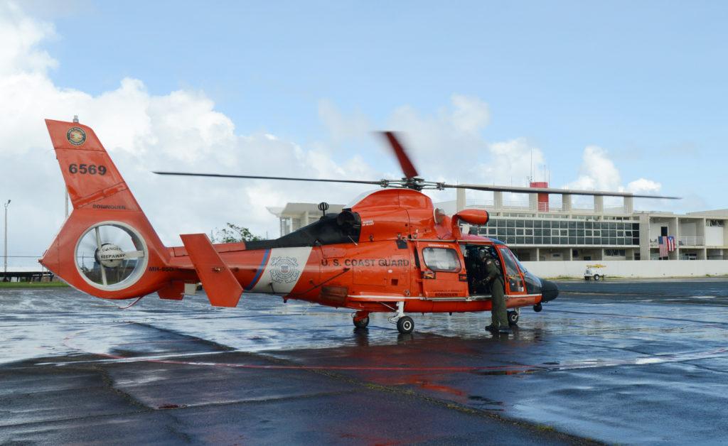MH-65 Dolphin Coast Guard Air Station Borinquen, MH-65 Dolphin Air Station Borinquen, Coast Guard rescue a U.S. Virgin Islands boater
