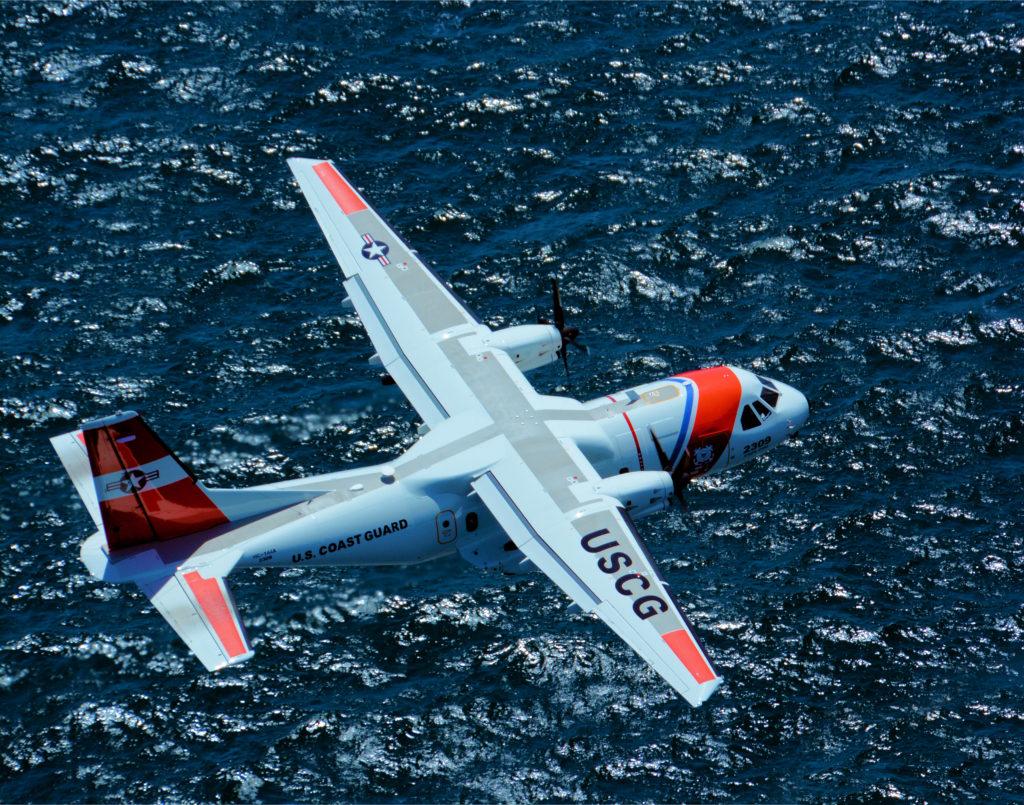 HC-144 Ocean Sentry Aircraft.  U.S. Coast Guard foto por Aux. Michael Dubin (archivo).