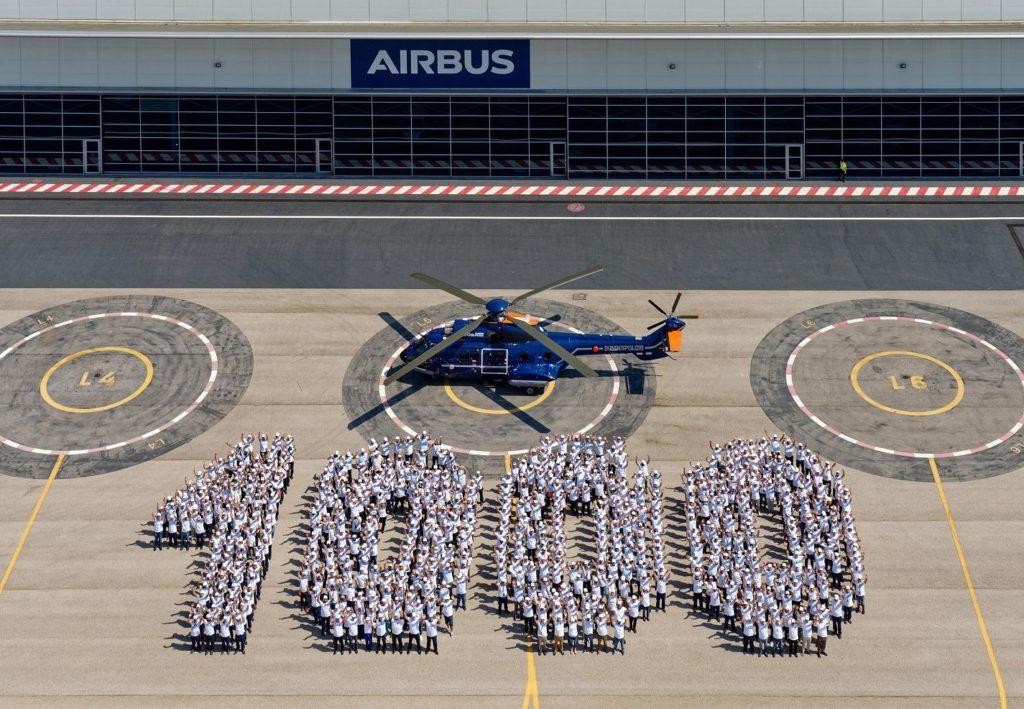 Super Puma número 1000, el helicóptero será operado por la Policía Federal alemana (Bundespolizei).
