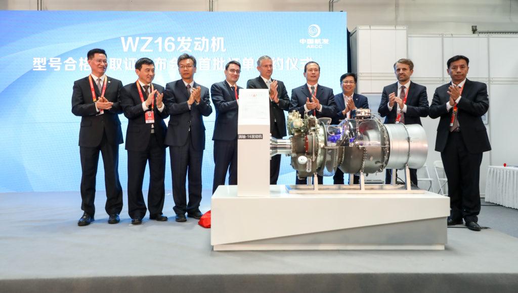 WZ16 Certificacion en China Helicopter Exposition, turboeje Safran AECC WZ16