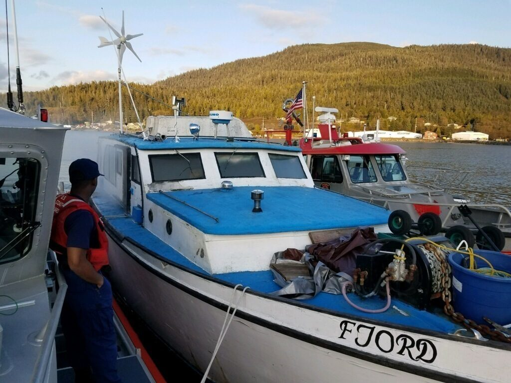 Three mariners are safe after being rescued from a burning boat approximately two miles north of Ketchikan Airport, Coast Guard Station Ketchikan