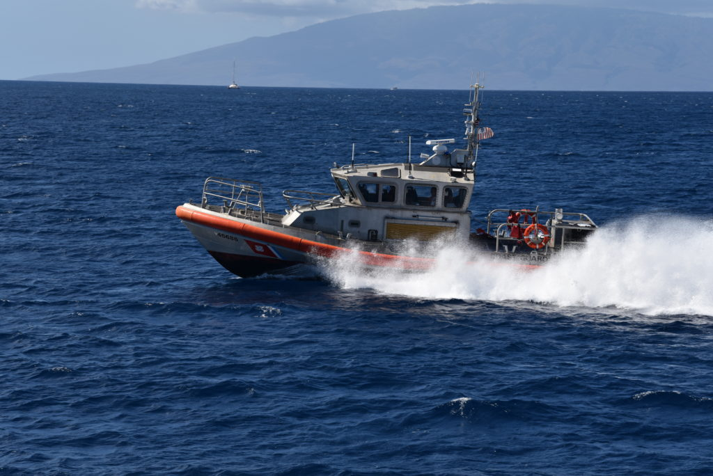 Coast Guard Station Maui's 45-foot Response Boat-Medium crew, USCG rescues boater Kahoolawe