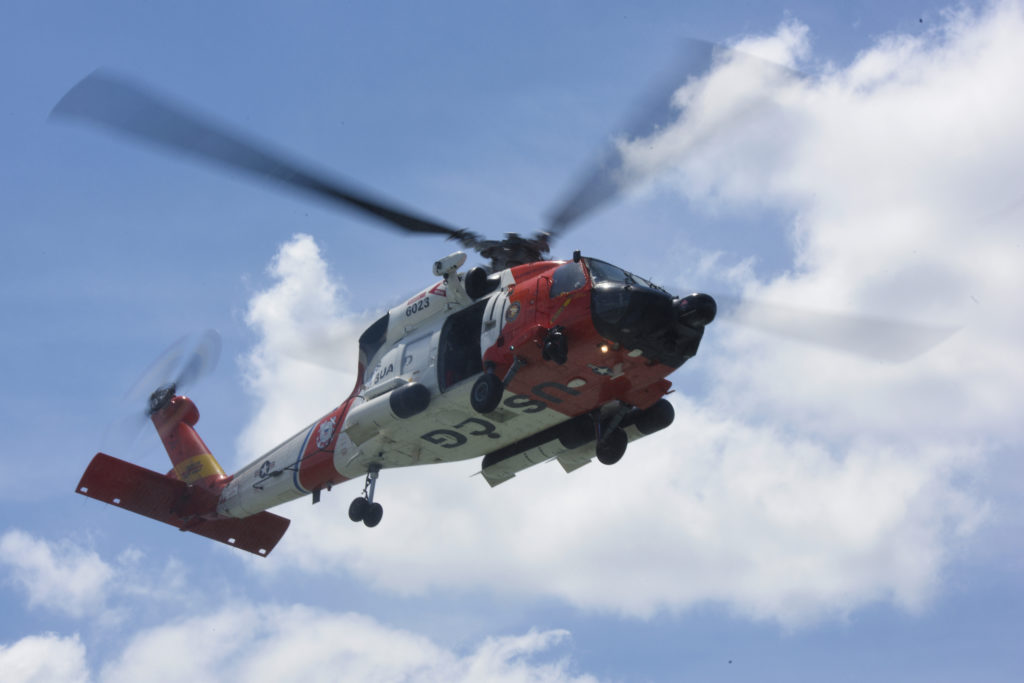 Coast Guard MH-60 Jayhawk helicopter crew from Air Station Elizabeth City.