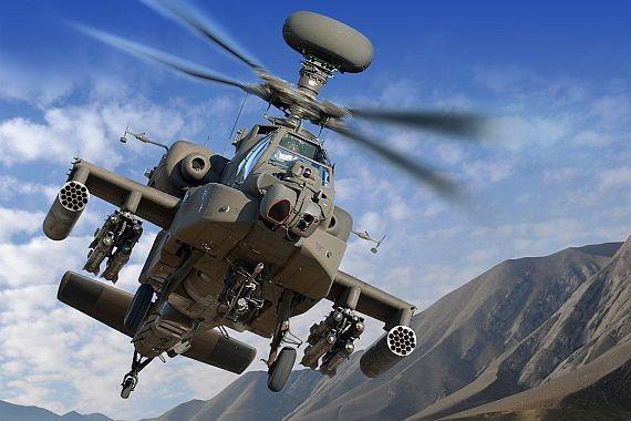 Lockheed Martin entregará sistemas MRFI para helicópteros Apache AH-64E.
