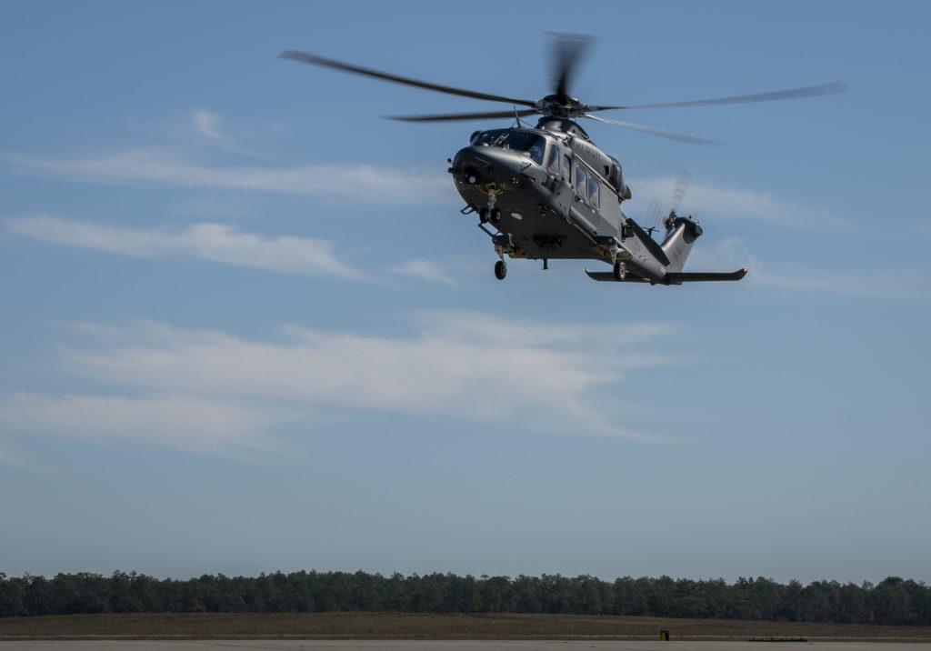 El MH-139A Grey Wolf fue presentado durante la ceremonia de Duke Field en Florida, el jueves 19 de diciembre de 2019.