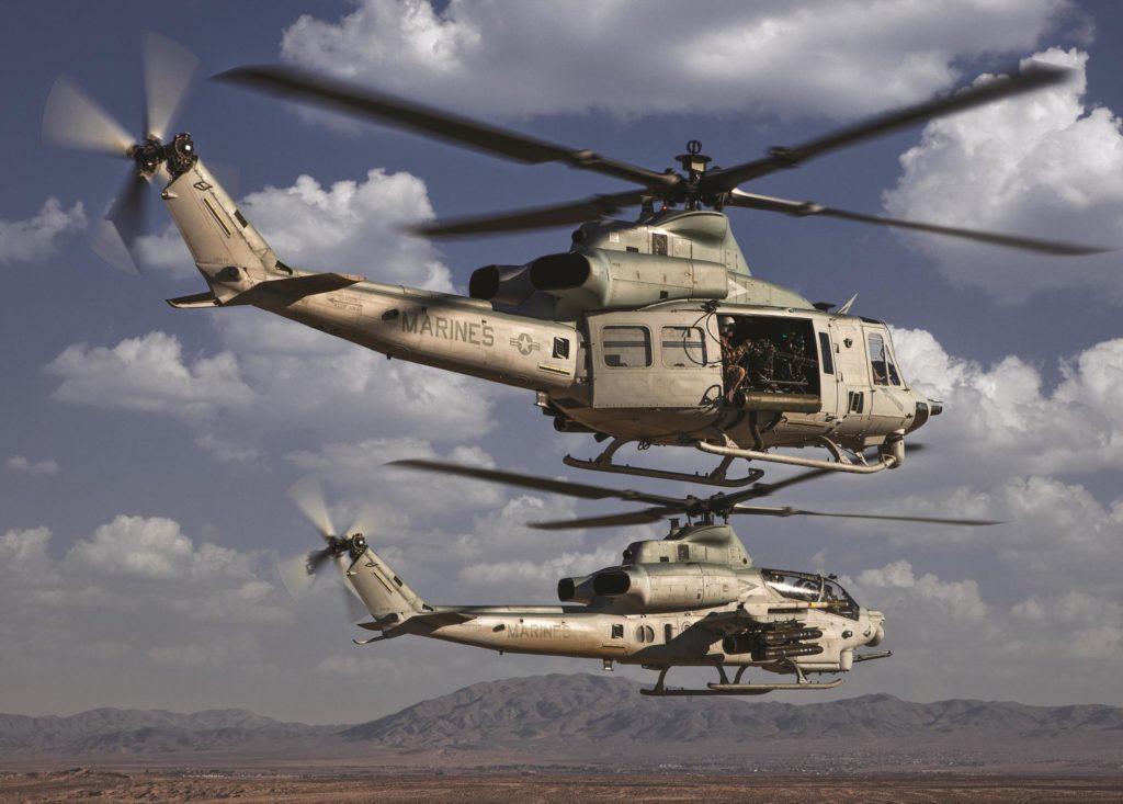 Bell UH-1Y Venom y AH-1Z Viper.