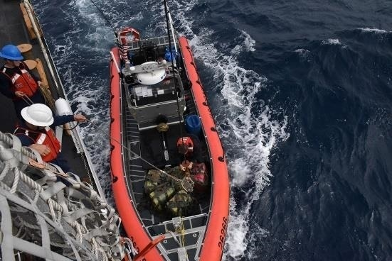 Coast Guard to offload $338 million worth of cocaine in San Diego.
