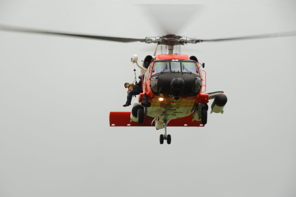 Coast Guard rescues 2 people, 1 dog from vessel off Oregon coast. MH-60 Jayhawk Sector Columbia River.