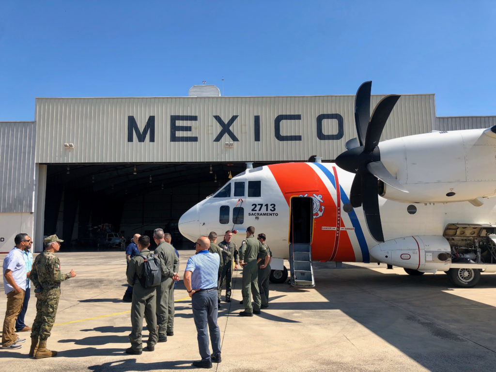 Coast Guard Cutter Alert returns home after a counterdrug patrol and international exercise. C-27J Spartan Air Station Sacramento.
