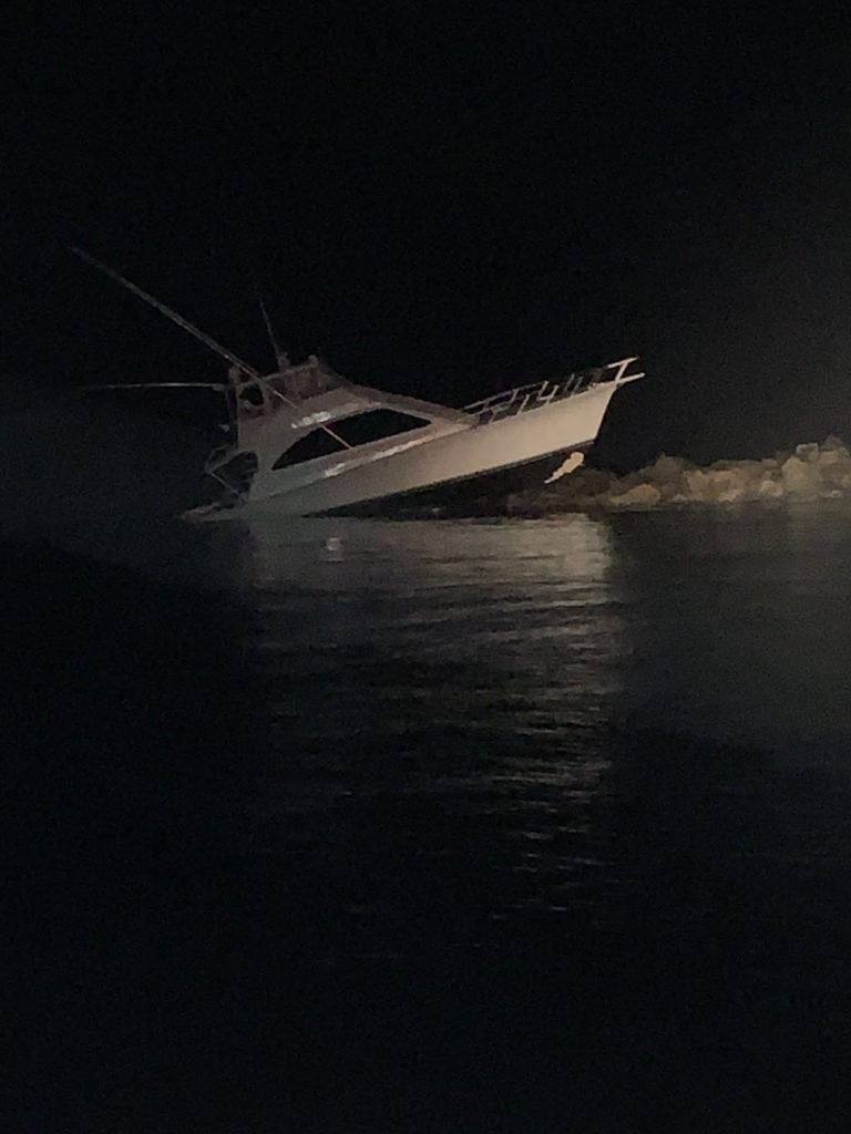 Coast Guard, partner agencies rescue 5 after vessel allides with Charleston jetty.
