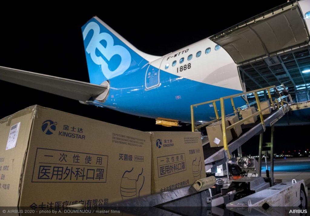 Airbus A330neo en Tianjin (China), COVID-19.