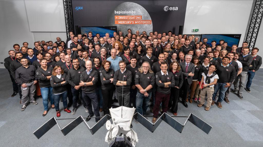 ESA: el control de las misiones se adapta a las condiciones del coronavirus. BepiColombo Mission Control Team.