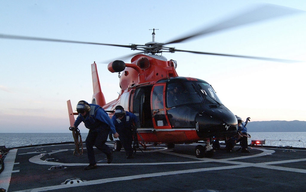 Suspect apprehended in historic Coast Guard drug bust off Oregon coast sentenced to prison. Cutter Alert. MH-65 Dolphin Air Station Los Angeles. HH-65C Dolphin. MH-65D Dolphin.