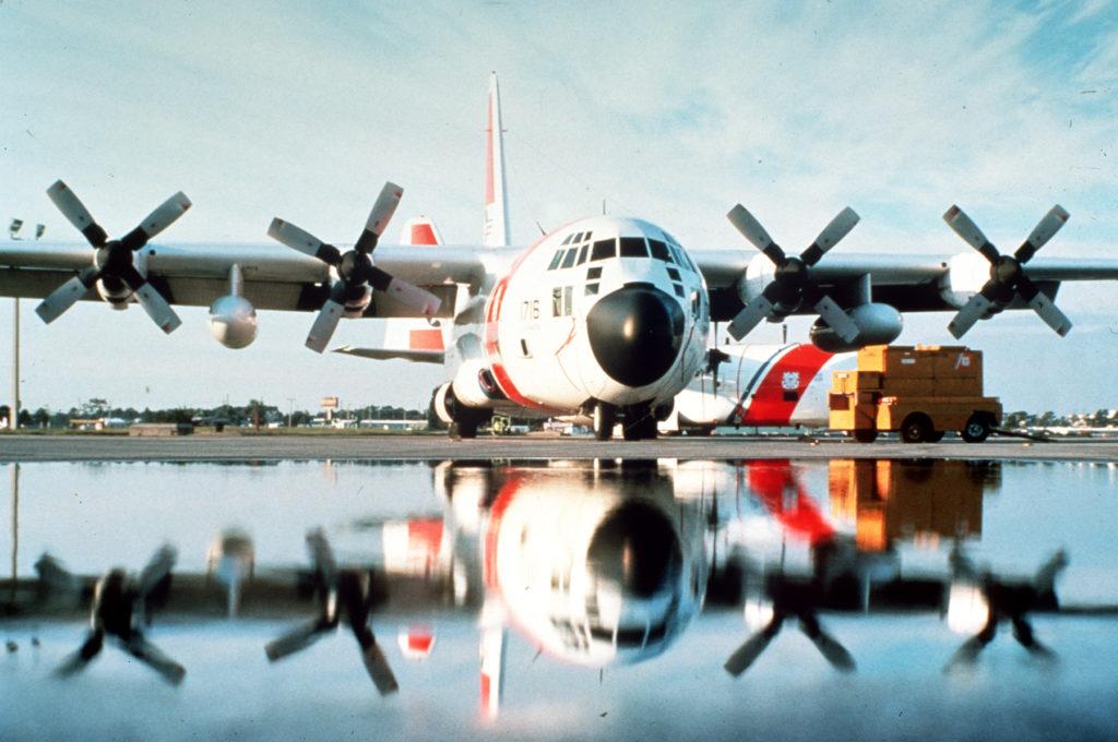 Coast Guard, good Samaritan rescue 2 presumed lost at sea, Bahamas. HC-130 Hercules Air Station Clearwater. HC-130J Hercules.