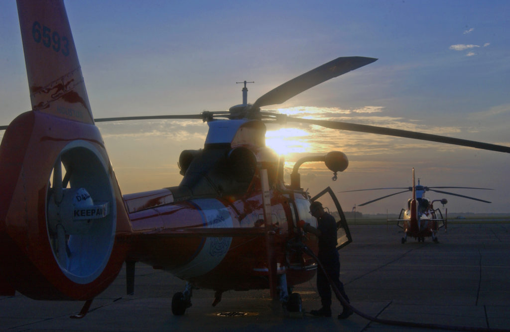 Coast Guard assists the vessel Smoker II crew members 79 miles offshore Freeport, Texas. MH-65 Dolphin Air Station Houston. HH-65C Dolphin. MH-65D Dolphin.