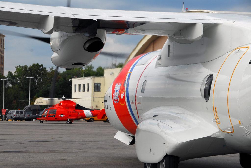 Coast Guard, good Samaritan rescue 2 presumed lost at sea, Bahamas. HC-144 Ocean Sentry.