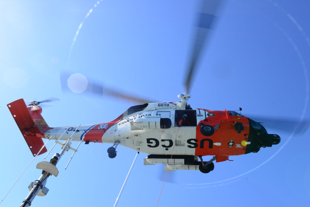 Coast Guard rescue two kayakers near Haystack Rock. MH-60 Jayhawk Sector Columbia River. HH-60 Jayhawk.