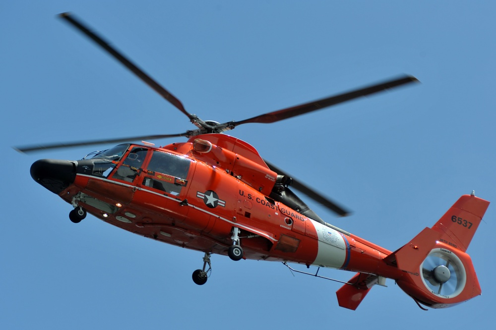 Coast Guard suspends search for fallen Oregon hiker. MH-65 Dolphin Sector North Bend. HH-65 Dolphin.