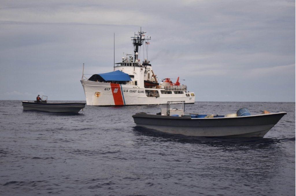 Coast Guard Cutter Vigilant interdicts approximately 6,800 lbs of cocaine near Costa Rica.