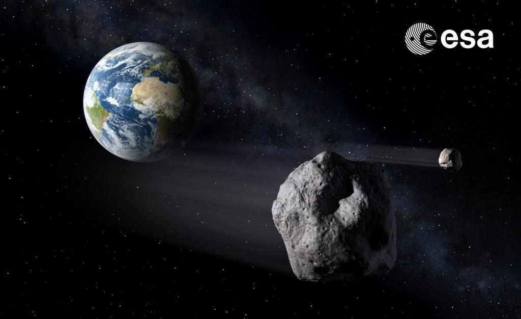 Hera de la ESA y la misión de desviación de asteroides DART de la NASA. Didymos y Dimorphos.