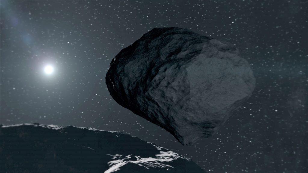 Dimorphos seen for Didymos. Hera de la ESA y la misión de desviación de asteroides DART de la NASA