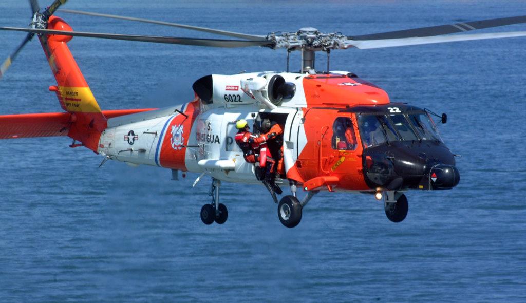 Coast Guard MH-60 Jayhawk crew rescue two teens near Fort Stevens, Oregon. Air Station Astoria. Sector Columbia River.