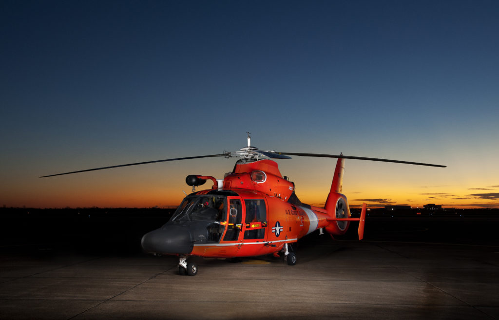 Coast Guard MH-65E assists vessel taking on water near Freshwater Bayou, Louisiana. This operation marks the first MH-65 Echo Mission. MH-65E Dolphin. MH-65E Air Station Houston.