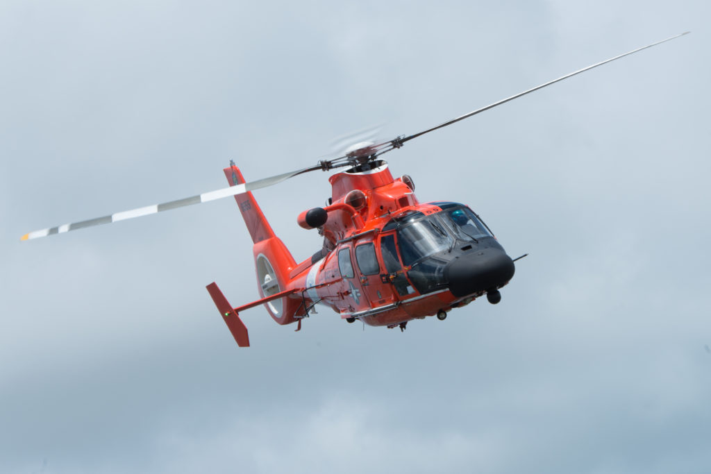 Coast Guard rescue 2 from the sailing vessel Preston Point off Key West, Florida, during Tropical Storm Sally, MH-65 Dolphin Air Station Miami
