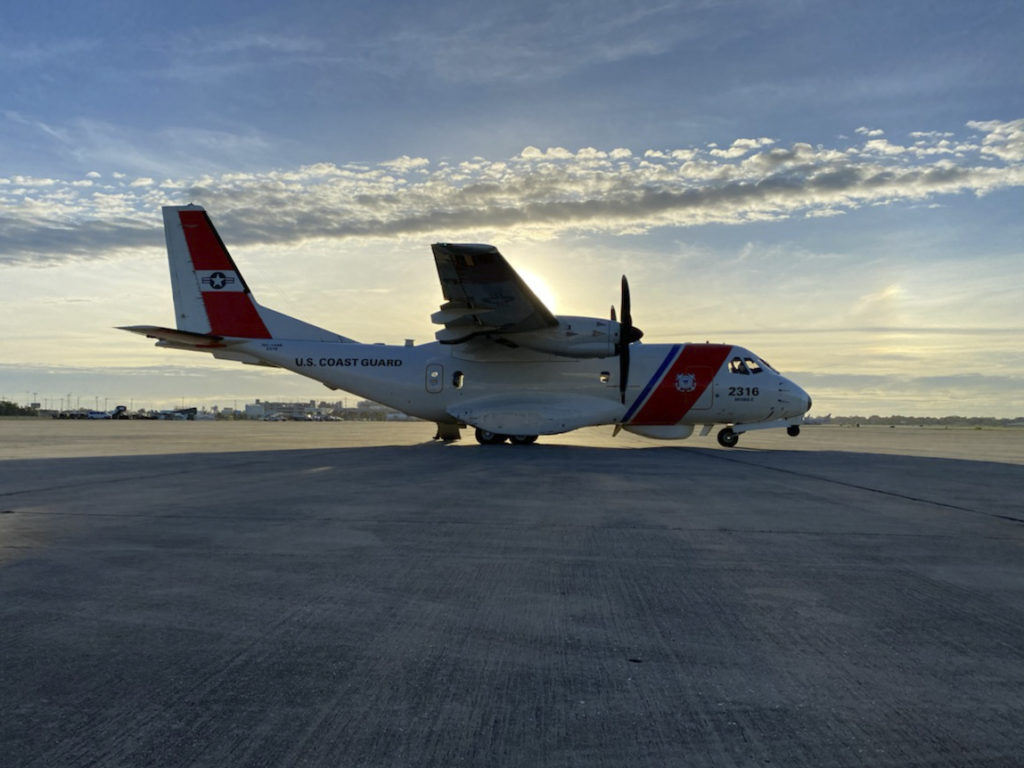 Coast Guard conducts overflight of areas affected by Hurricane Delta