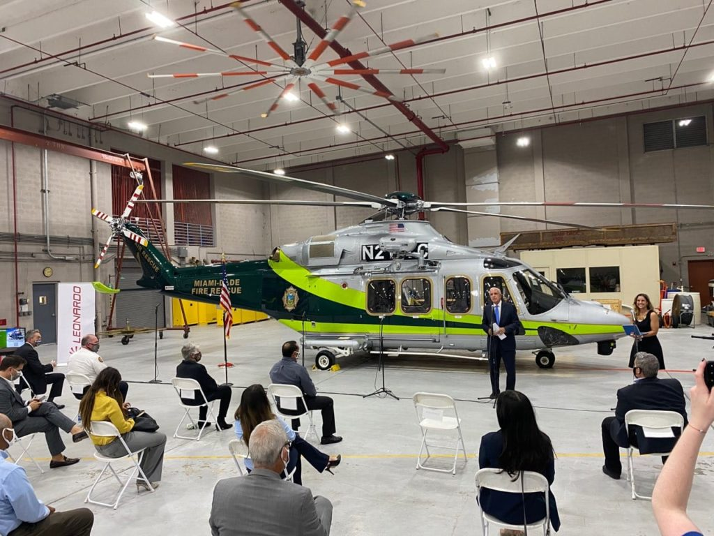 Miami-Dade Fire Rescue (MDFR) upgrades helicopter fleet with delivery of first Leonardo AW139
