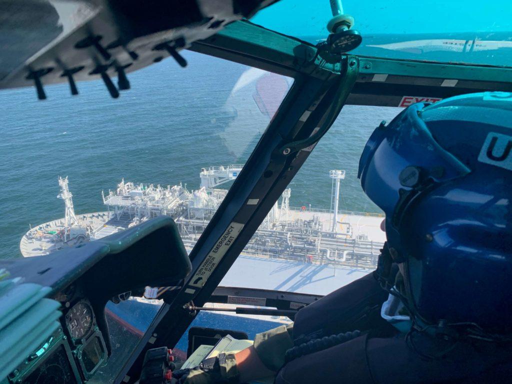 Coast Guard medevac mariner offshore Corpus Christi, Texas