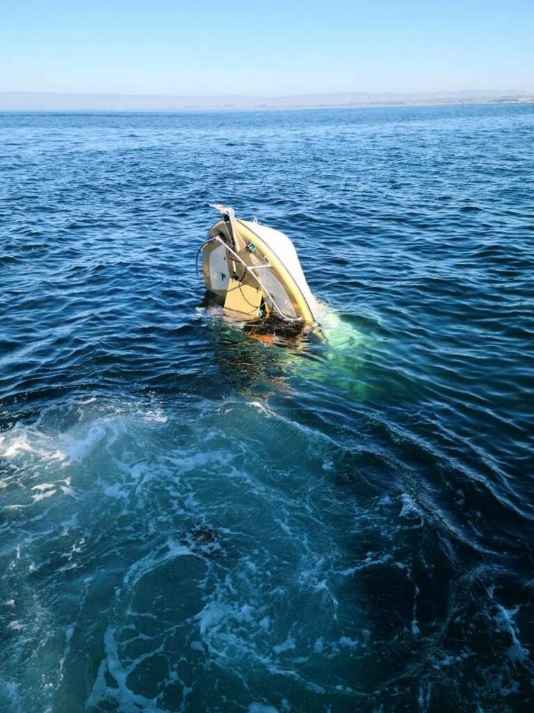 Coast Guard rescue 2 people after vessel capsizes near Moss Landing, Station Monterey Response Boat-Medium crew