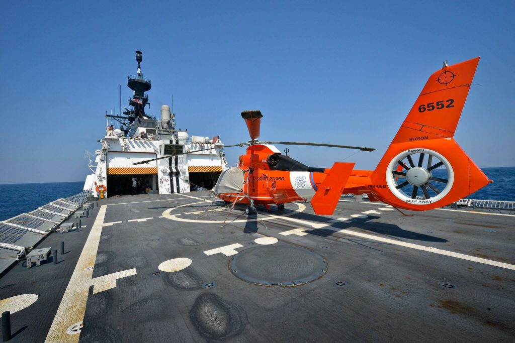 Coast Guard Helicopter Interdiction Tactical Squadron (HITRON) Founding Members MH-65 Dolphin