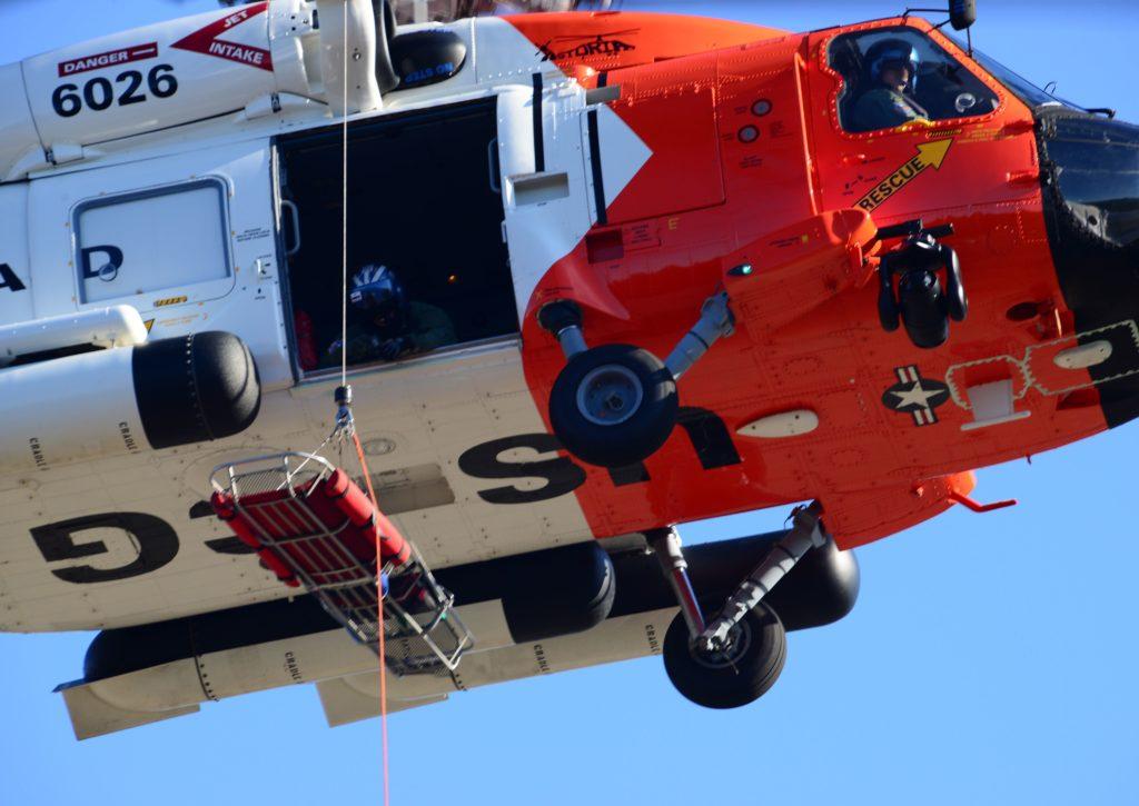 Coast Guard rescue 3 people, 1 dog from fishing vessel taking on water near Willapa Bay, WA