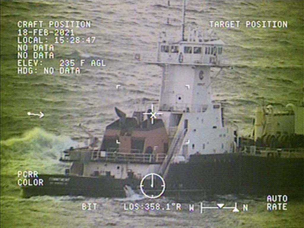 Coast Guard medevac man from tug boat 60 miles off Grays Harbor, WA