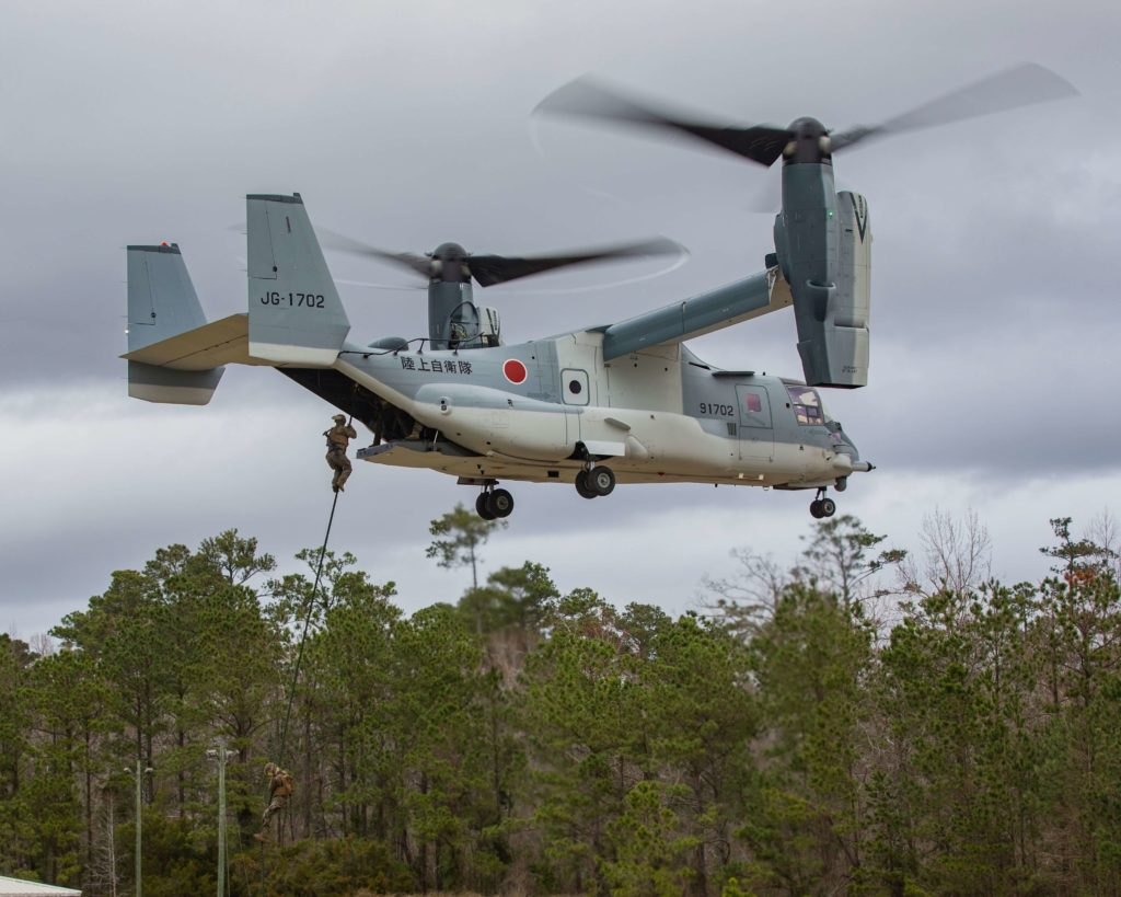 La flota de Bell Boeing V-22 Osprey registra las 600.000 horas de vuelo