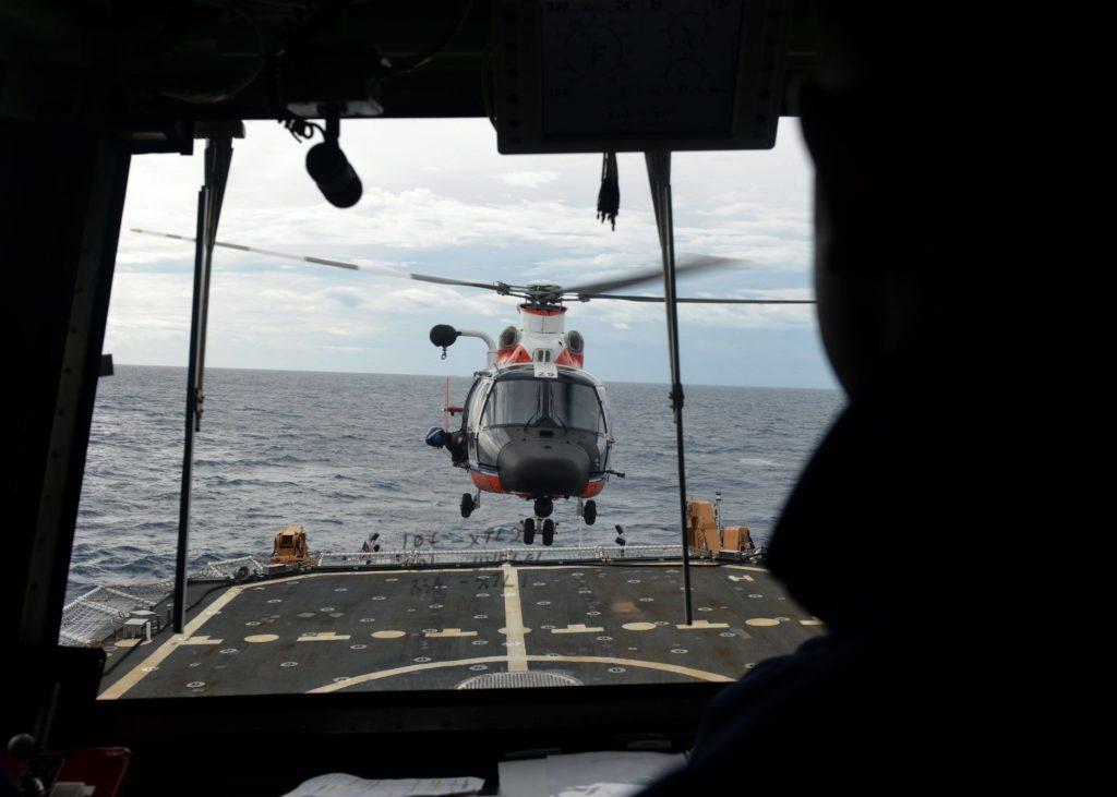 Coast Guard helicopter aircrew medevac injured mariner off Hawaii Island