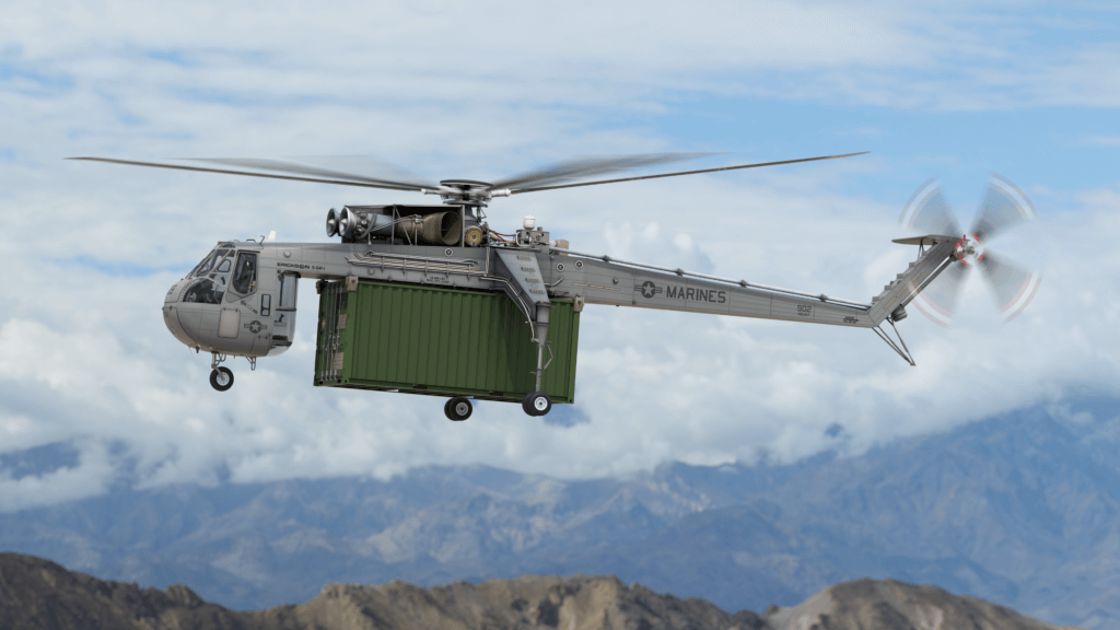 Erickson Inc, los primeros helicópteros S-64A Skycrane y CH-54A Tarhe
