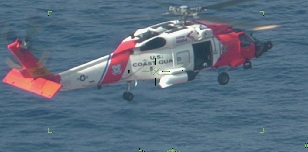A Coast Guard aircrew medevac man 223 nm SE of Cape Hatteras, NC