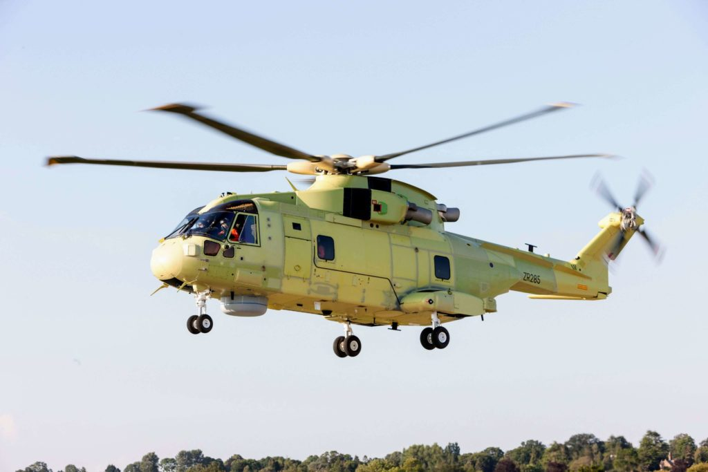 El primer Leonardo AW101 para la Armada polaca vuela por primera vez