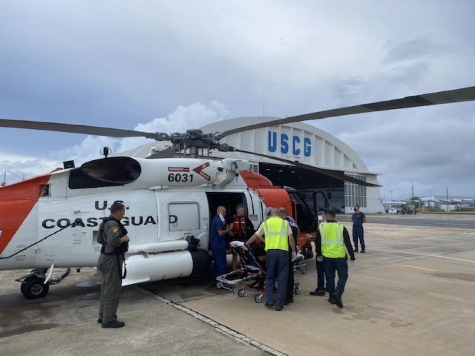 Coast Guard aircrew rescue swimmer in distress in Aguadilla, Puerto Rico